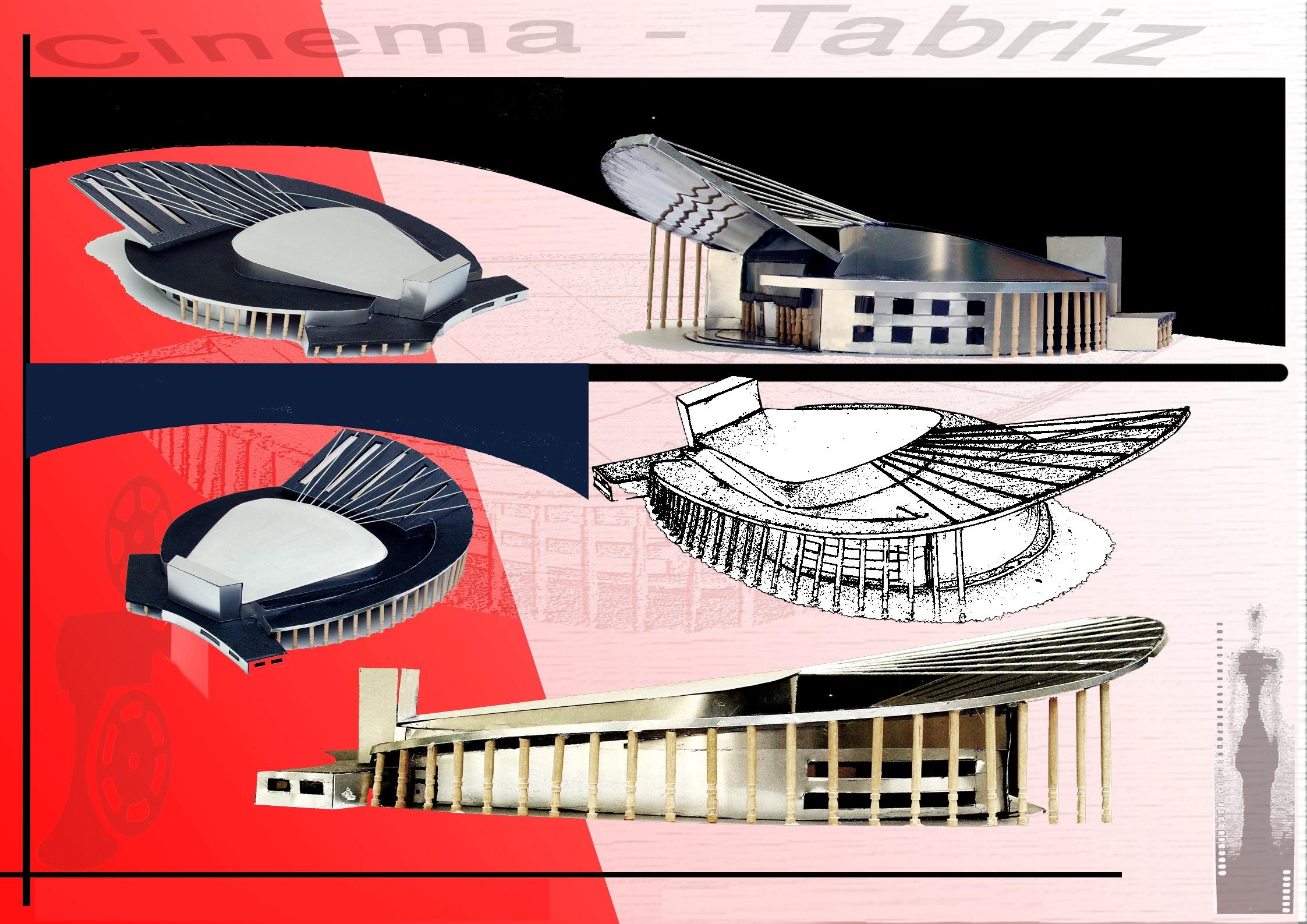 دانلود پروژه سینما - پلان - نما - برش اتوکدی - رندر سه بعدی