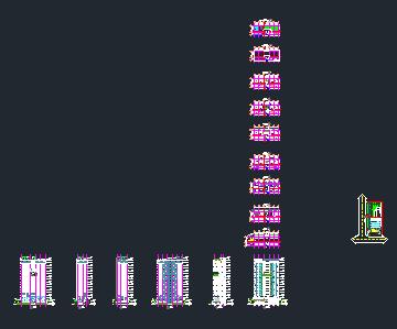 پروژه ی اتوکد برج