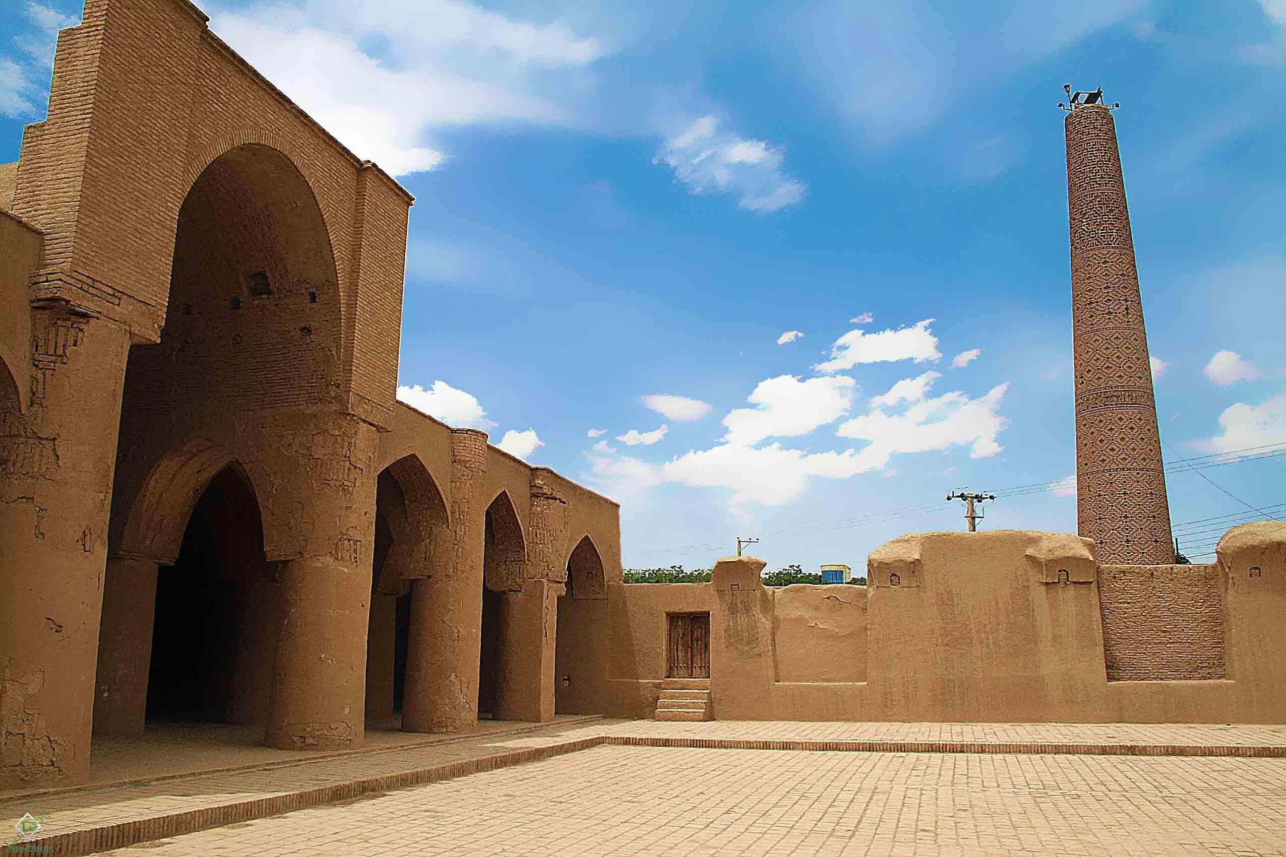 پروژه اتوکد مسجد تک مناره