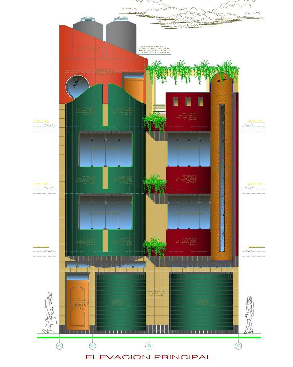 مجموعه پلان های مسکونی سه طبقه