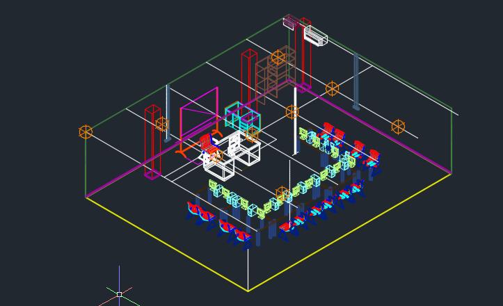 طرح سه بعدی فضای آموزش کامپیوتر