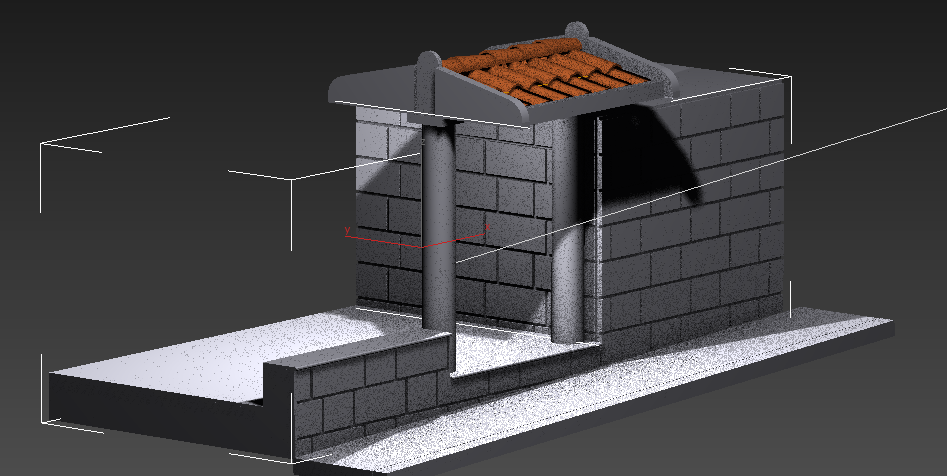 طراحی سه بعدی ورودی ساختمان