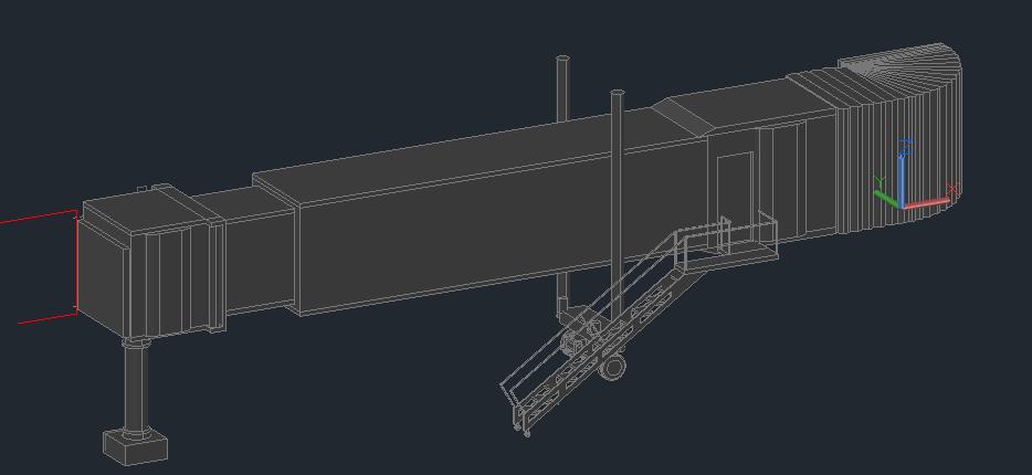 طراحی سه بعدی پل پیاده شدن هواپیما