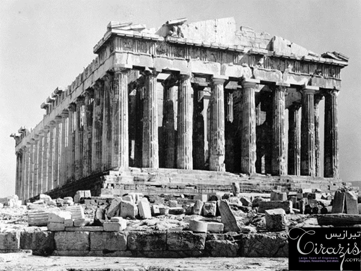 دانلود پروژه پاورپوینت معماری یونان