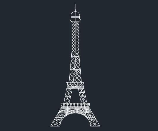 دانلود پروژه رایگان اتوکد برج ایفل